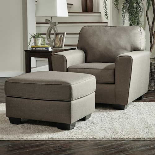 Benchcraft Calicho Contemporary Chair & Ottoman