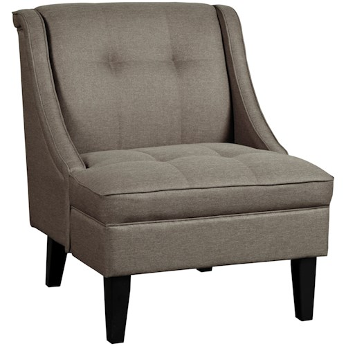 Benchcraft Calicho Accent Chair with Sloping Arms and Tufted Details