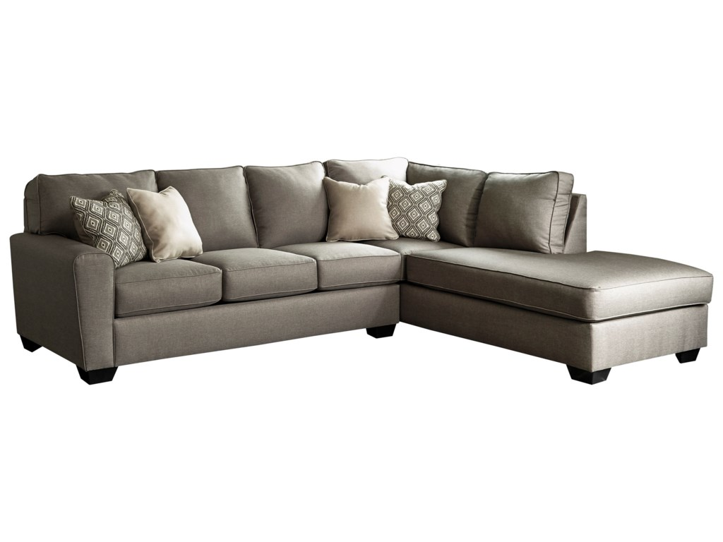 Calicho Contemporary Sectional with Right Chaise by Benchcraft at Household  Furniture