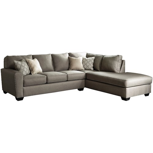 Sectional Sofas Birmingham Al: Benchcraft Calicho Contemporary Sectional With Right