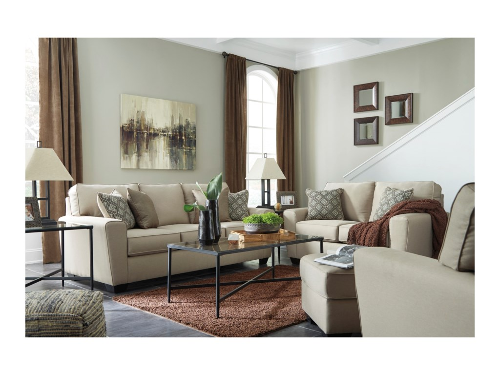 benchcraft calicho stationary living room group crowley furniture