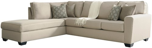 Benchcraft Calicho Contemporary Sectional with Left Chaise