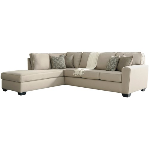 Sectional Sofas Birmingham Al: Benchcraft Calicho Contemporary Sectional With Left Chaise