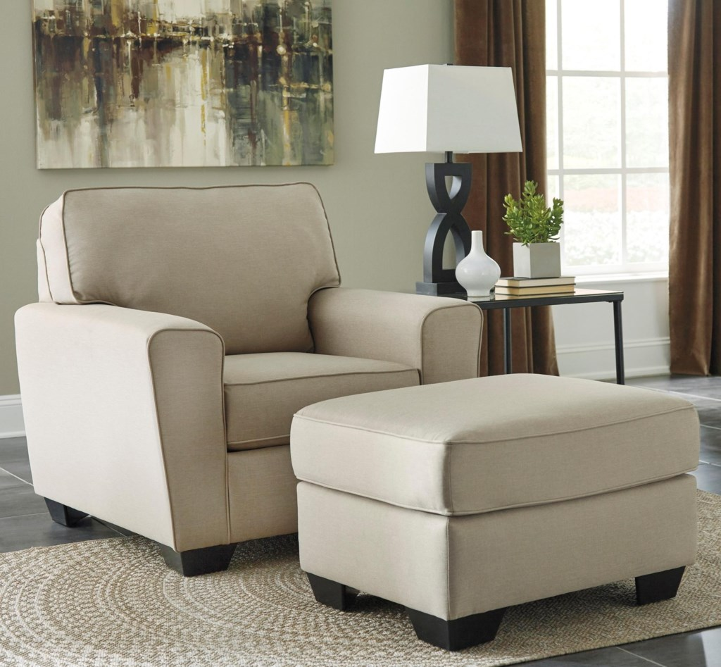 Benchcraft Calicho Contemporary Chair Ottoman Rooms And Rest