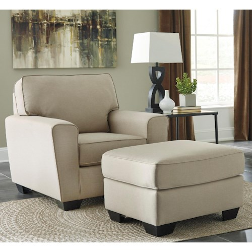 Benchcraft Calicho Contemporary Chair & Ottoman