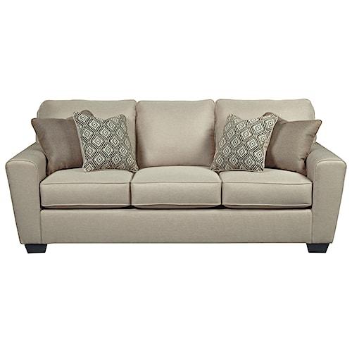 Benchcraft Calicho Contemporary Queen Sofa Sleeper
