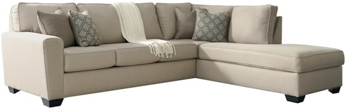 Benchcraft Calicho Contemporary Sectional with Right Chaise