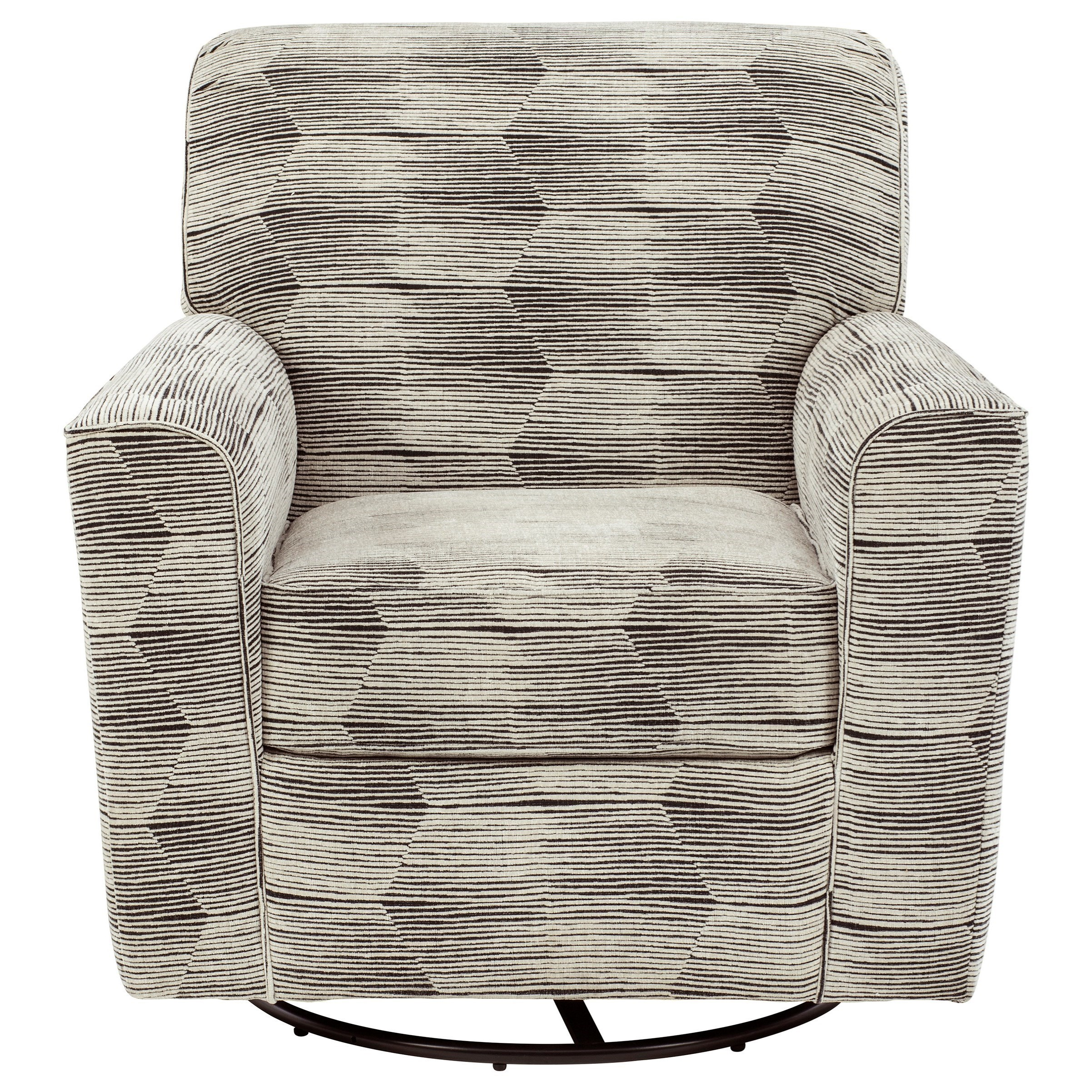 Contemporary Swivel Glider Accent Chair