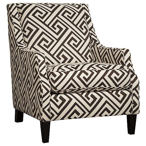 Benchcraft Carlinworth Greek Key Fabric Accent Chair
