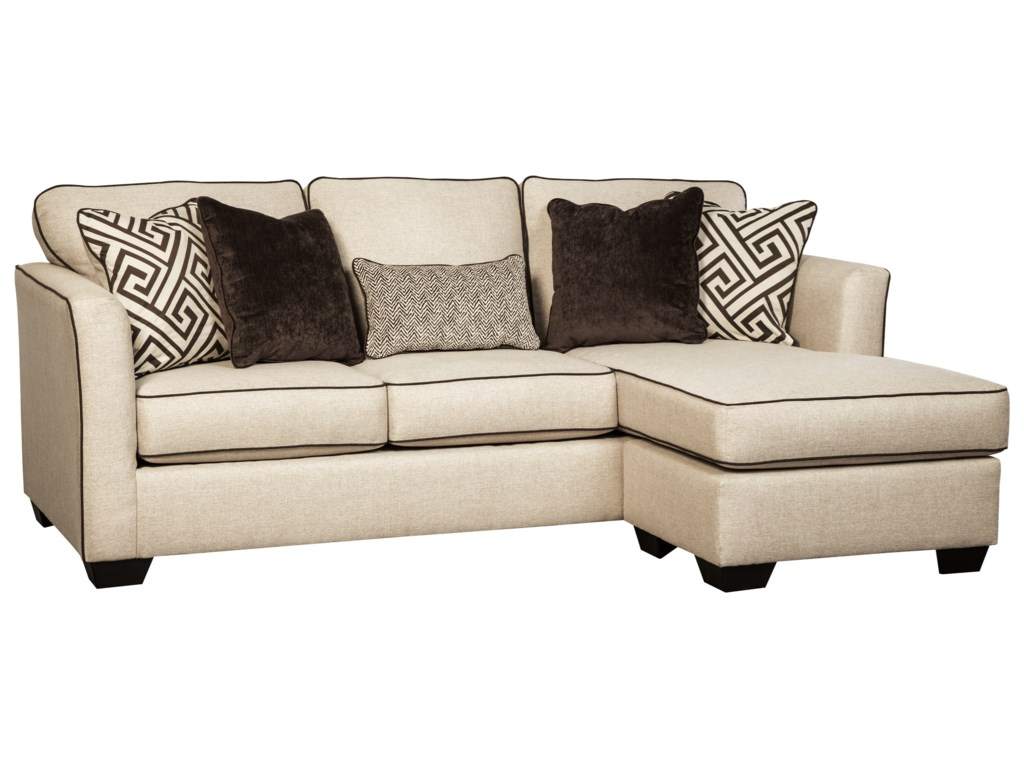 Queen Sofa Chaise Sleeper Baci Living Room
