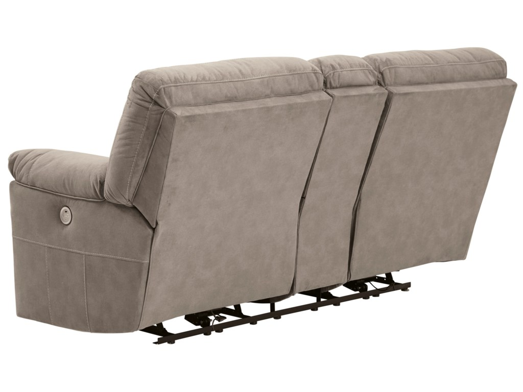Benchcraft by Ashley CavalcadeDouble Reclining Power Loveseat with Console