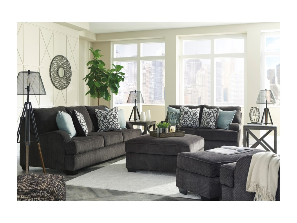 Signature Design By Ashley CharentonChair and a Half & Ottoman
