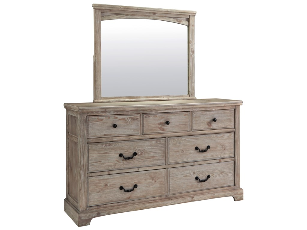 Benchcraft Charmyn Relaxed Vintage Dresser And Mirror Set Value