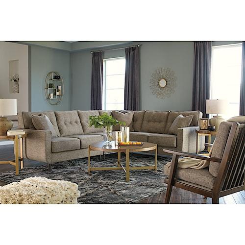 benchcraft dahra stationary living room group furniture fair