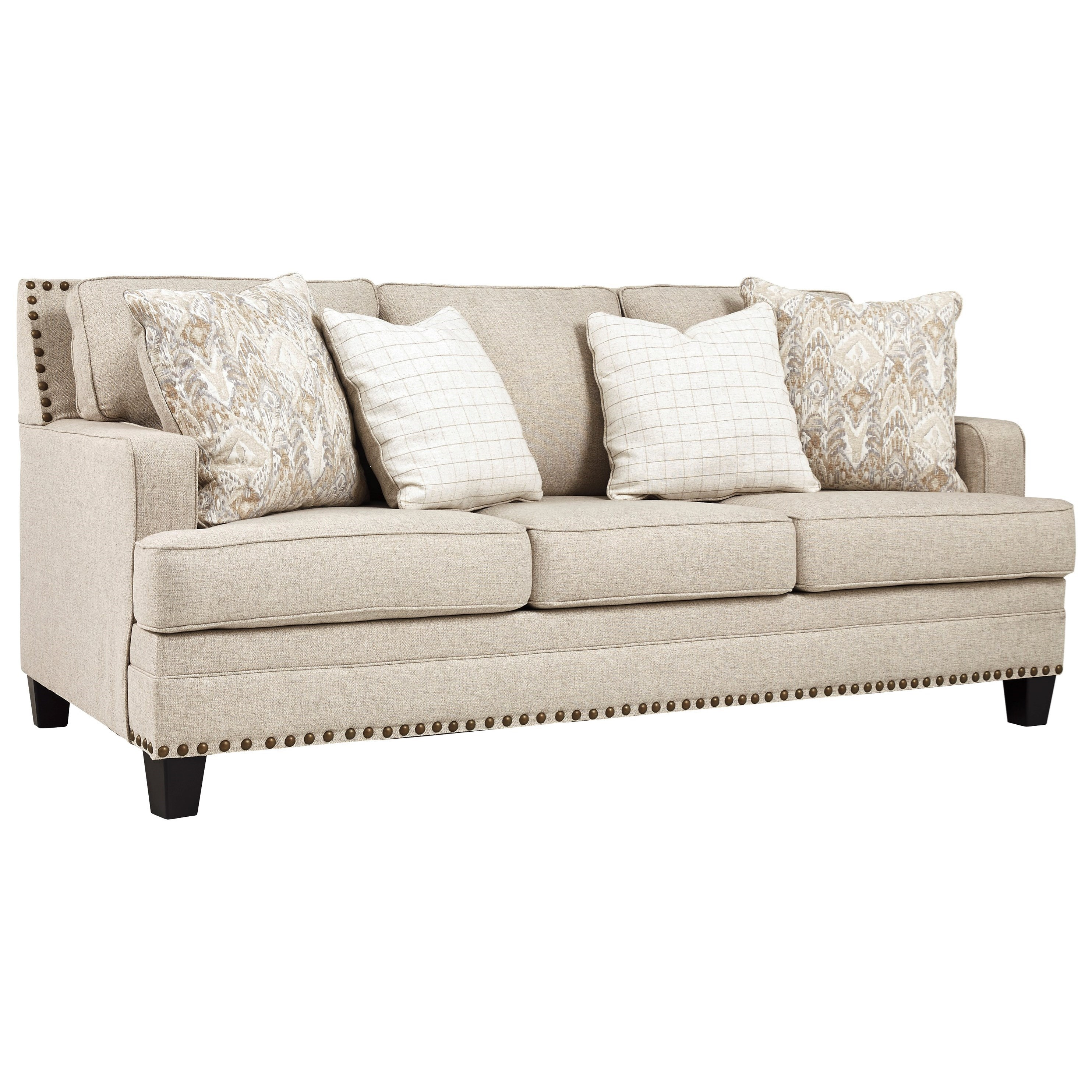 Picture of: Benchcraft By Ashley Claredon Transitional Sofa With Nailhead Trim Royal Furniture Sofas