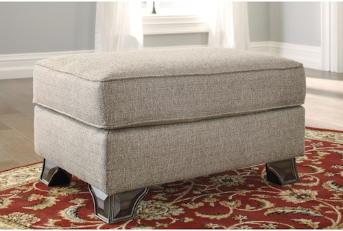 Benchcraft Claremorris Ottoman with Traditional Style