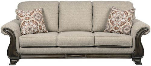 Benchcraft Claremorris Sofa with Traditional Style