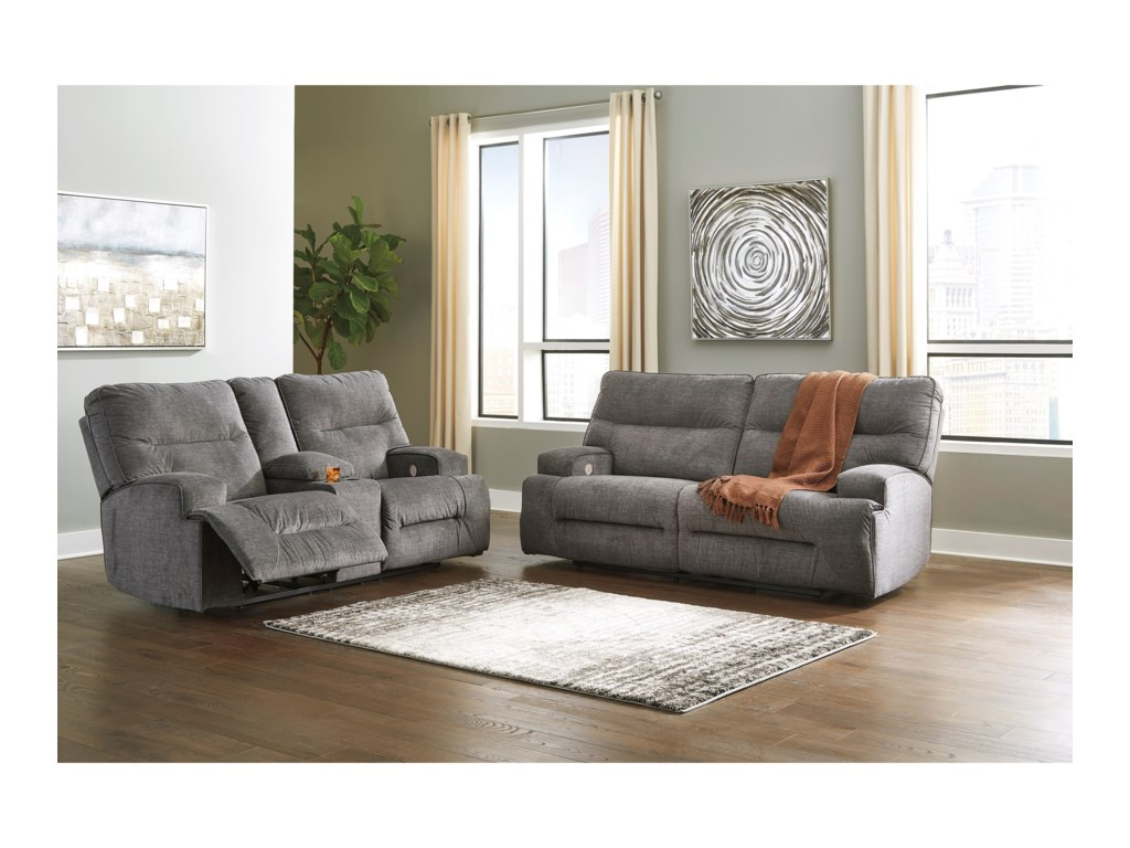 Benchcraft CoombsPower Reclining Living Room Group
