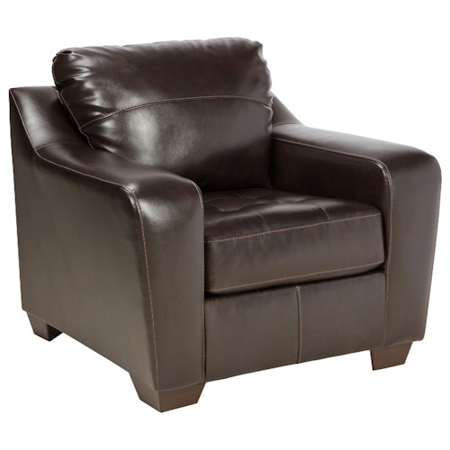 Benchcraft Coppell DuraBlend® Contemporary Chair with Tufted Seat Cushion