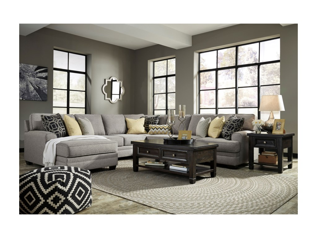 Benchcraft Cresson5-Piece Sectional with Chaise