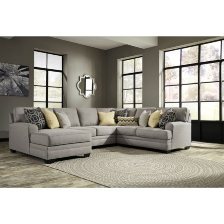 4-Piece Sectional with Chaise