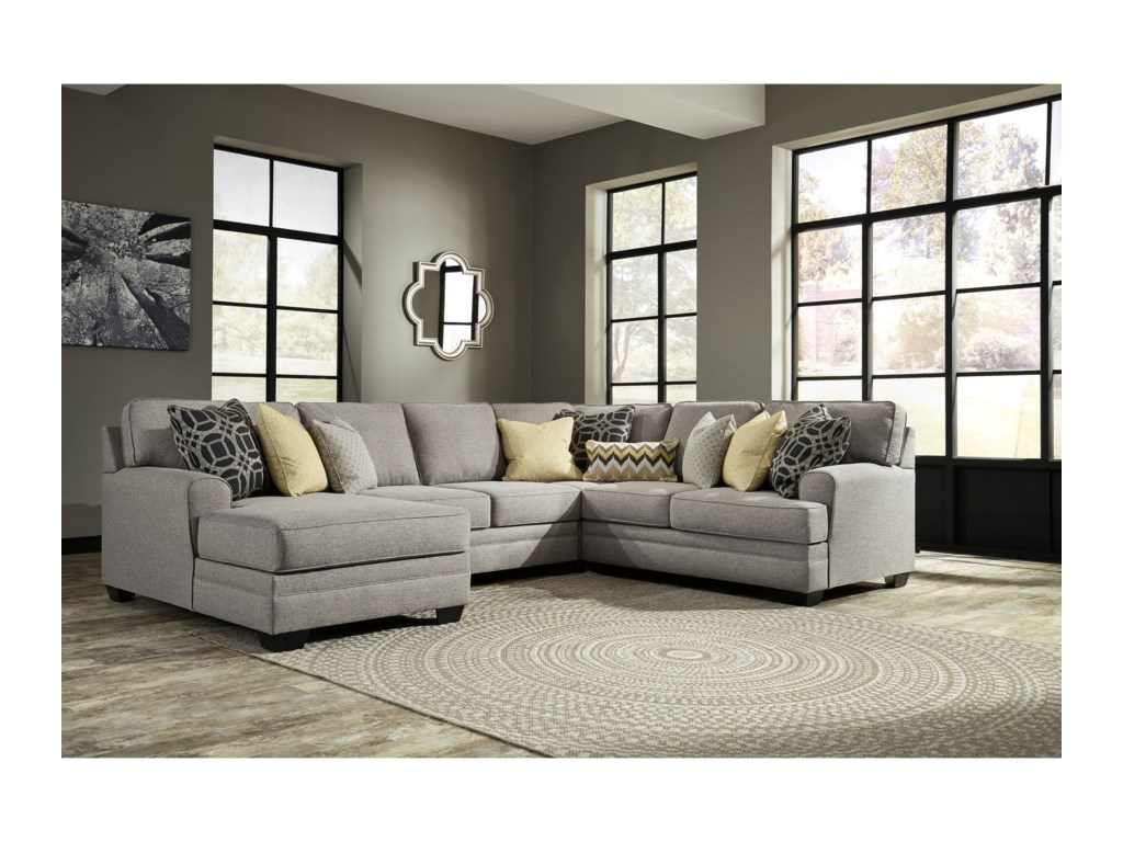 Cresson Contemporary 4-Piece Sectional with Chaise by Del Sol AB at Del Sol  Furniture