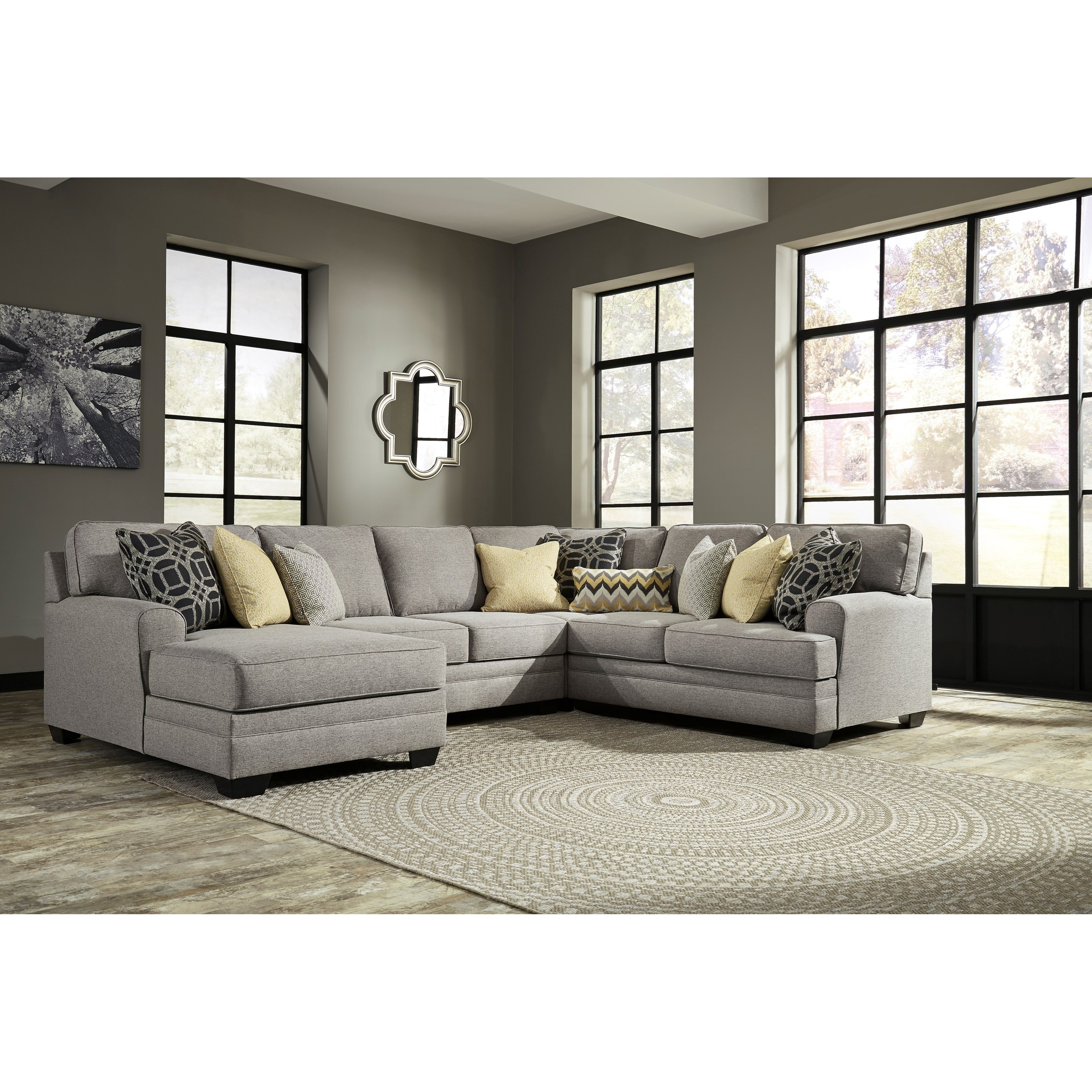 Benchcraft by Ashley Cresson Contemporary 4-Piece Sectional with Chaise - Coconis Furniture u0026 Mattress 1st - Sectional Sofas  sc 1 st  Coconis Furniture : 4 piece sectional sofa with chaise - Sectionals, Sofas & Couches
