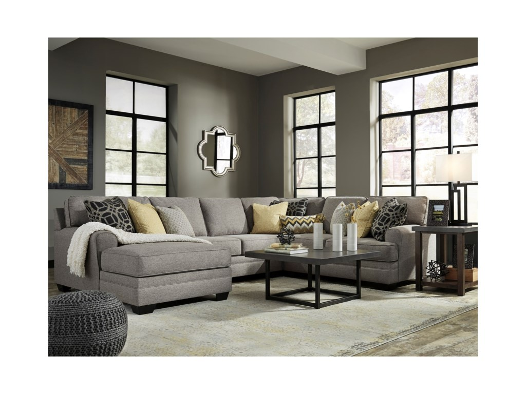 Benchcraft Cresson4-Piece Sectional with Chaise