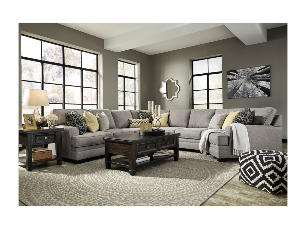 Benchcraft Cresson5-Piece Sectional with Cuddler