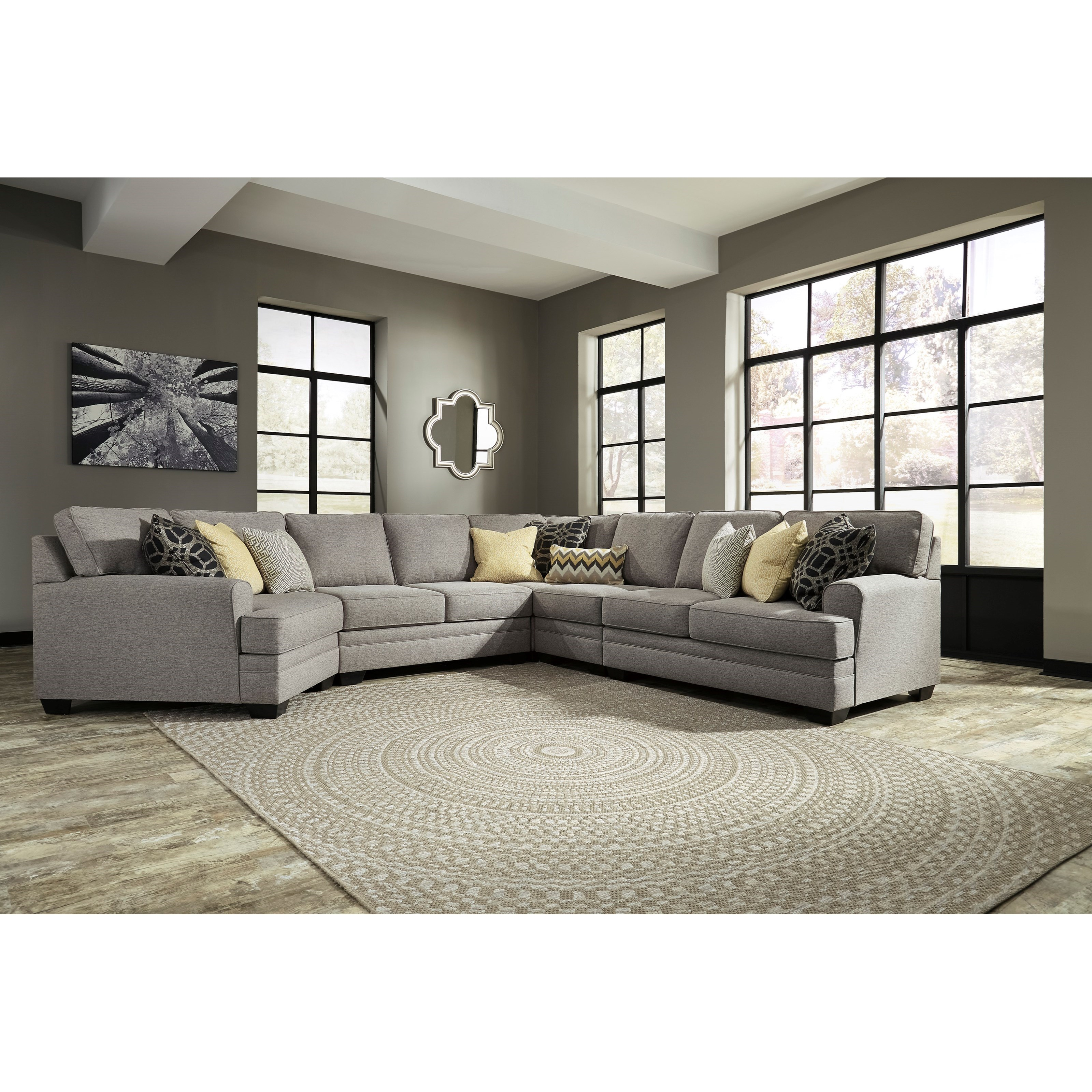 Cresson 5 Piece Sectional With Cuddler