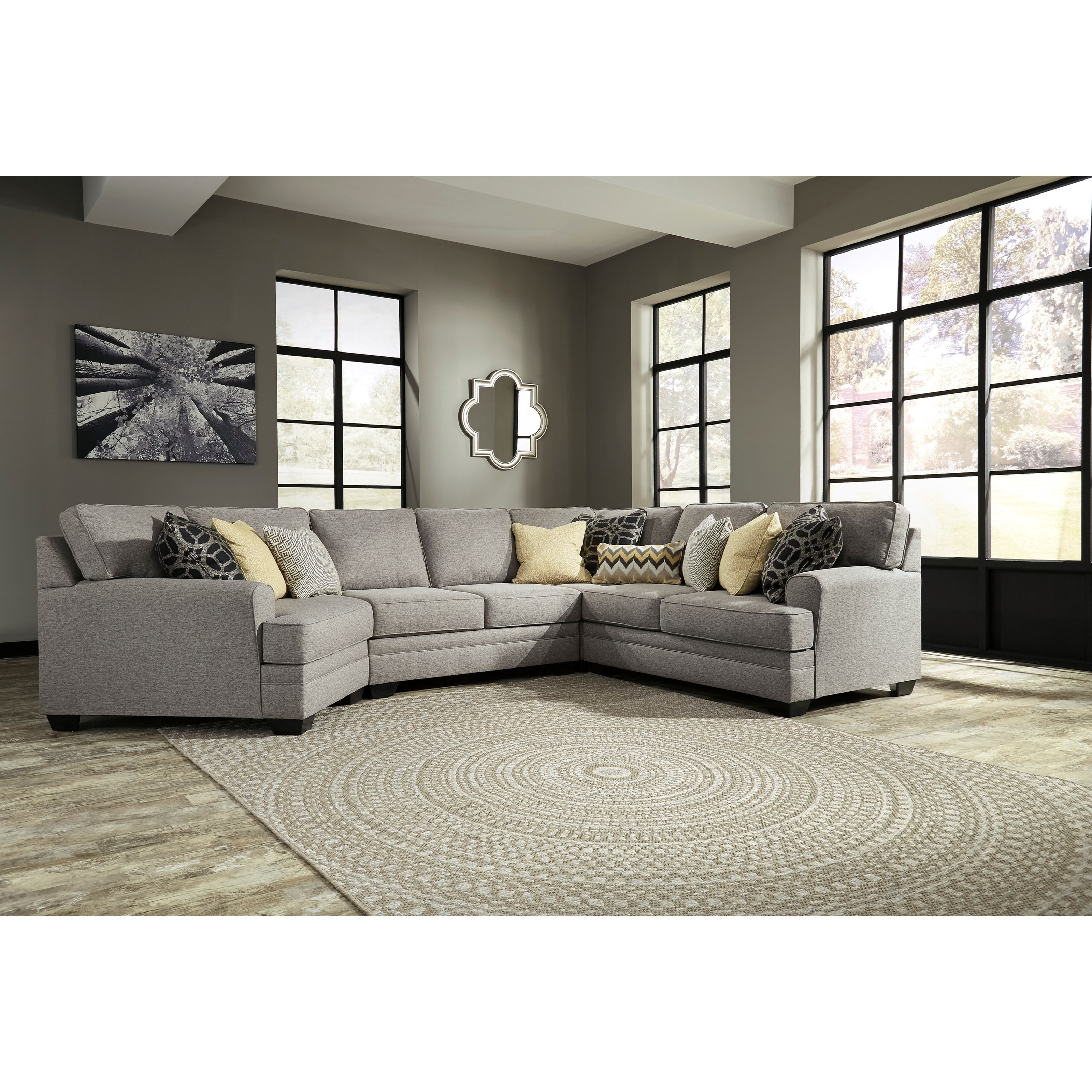 Benchcraft Cresson Contemporary 4 Piece Sectional With Cuddler