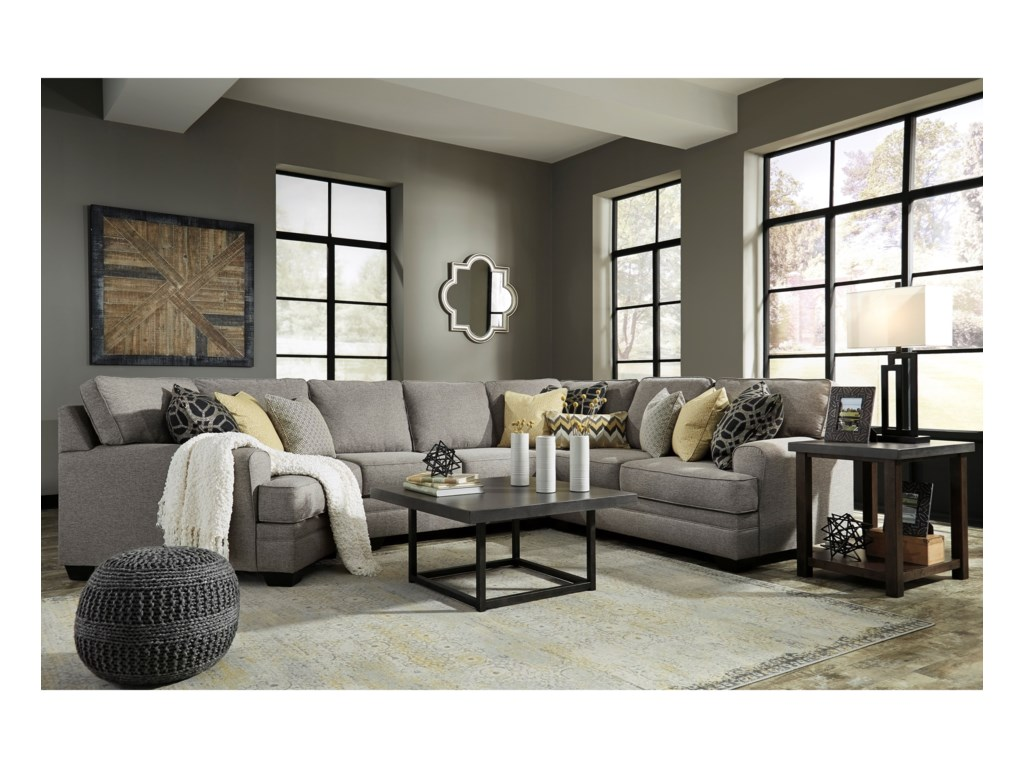 Ashley Cresson4-Piece Sectional with Cuddler