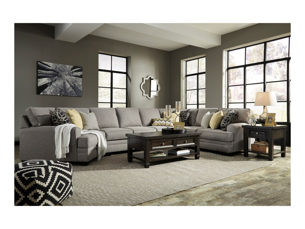 Benchcraft Cresson4-Piece Sectional w/ Cuddler & Armless Sofa