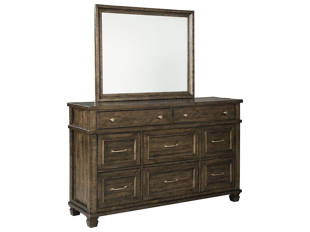 Benchcraft DarloniDresser and Mirror Set