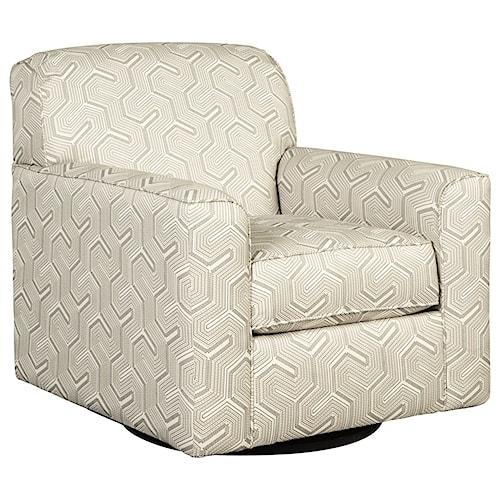 Benchcraft Daylon Contemporary Swivel Accent Chair