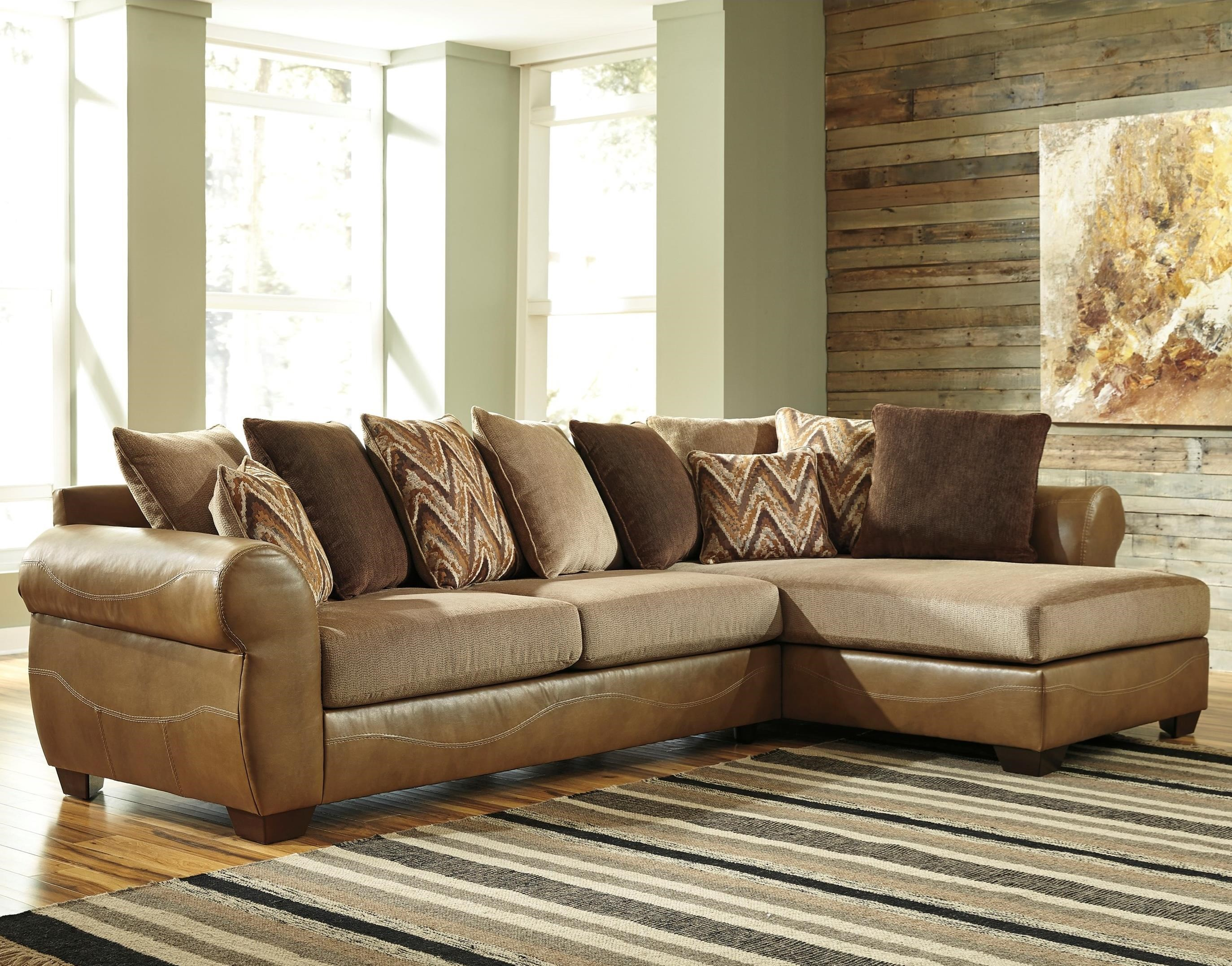 Benchcraft Declain 2 Piece Sectional With Right Chaise And Loose Back  Pillows