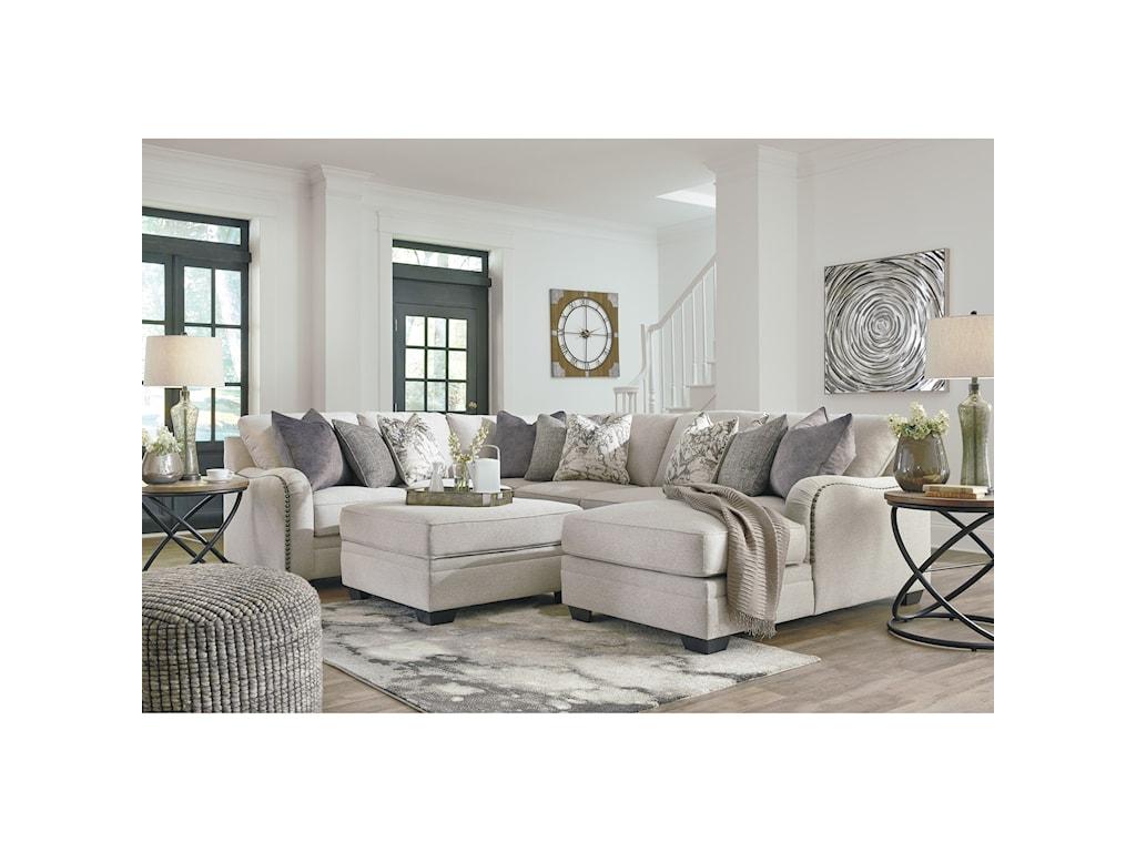 Benchcraft by Ashley Dellara Stationary Living Room Group | Royal ...