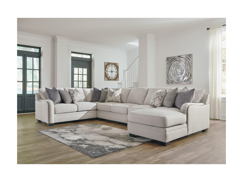 Dellara Casual 5-Piece Sectional with Right Chaise by Benchcraft by Ashley  at Royal Furniture