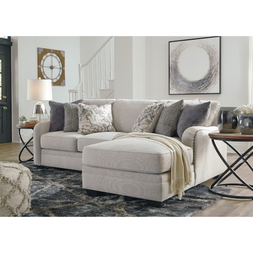 Benchcraft Dellara Casual 2 Piece Sectional with Right Chaise