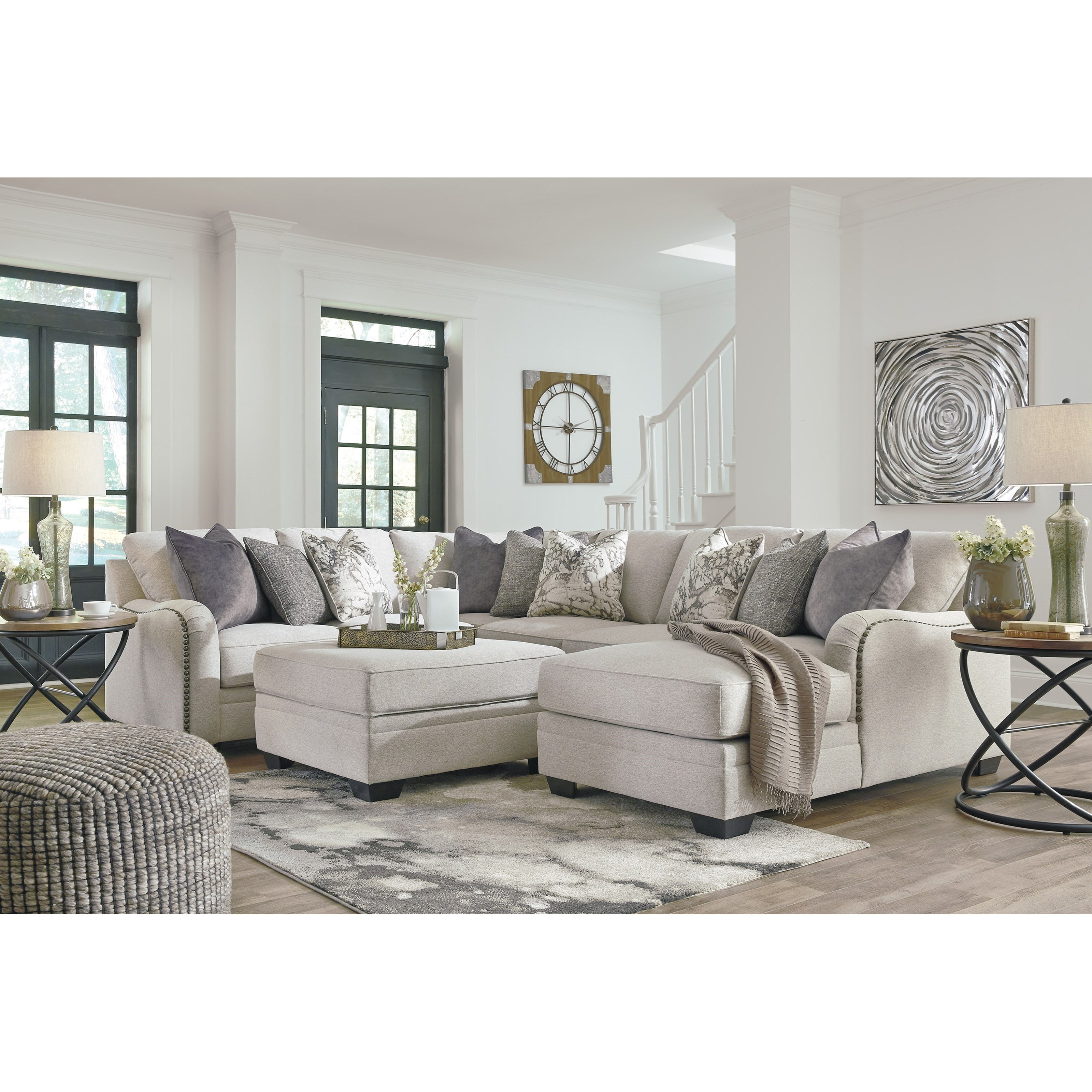 Benchcraft By Ashley Dellara Casual 4 Piece Sectional With Right Chaise Royal Furniture Sectional Sofas
