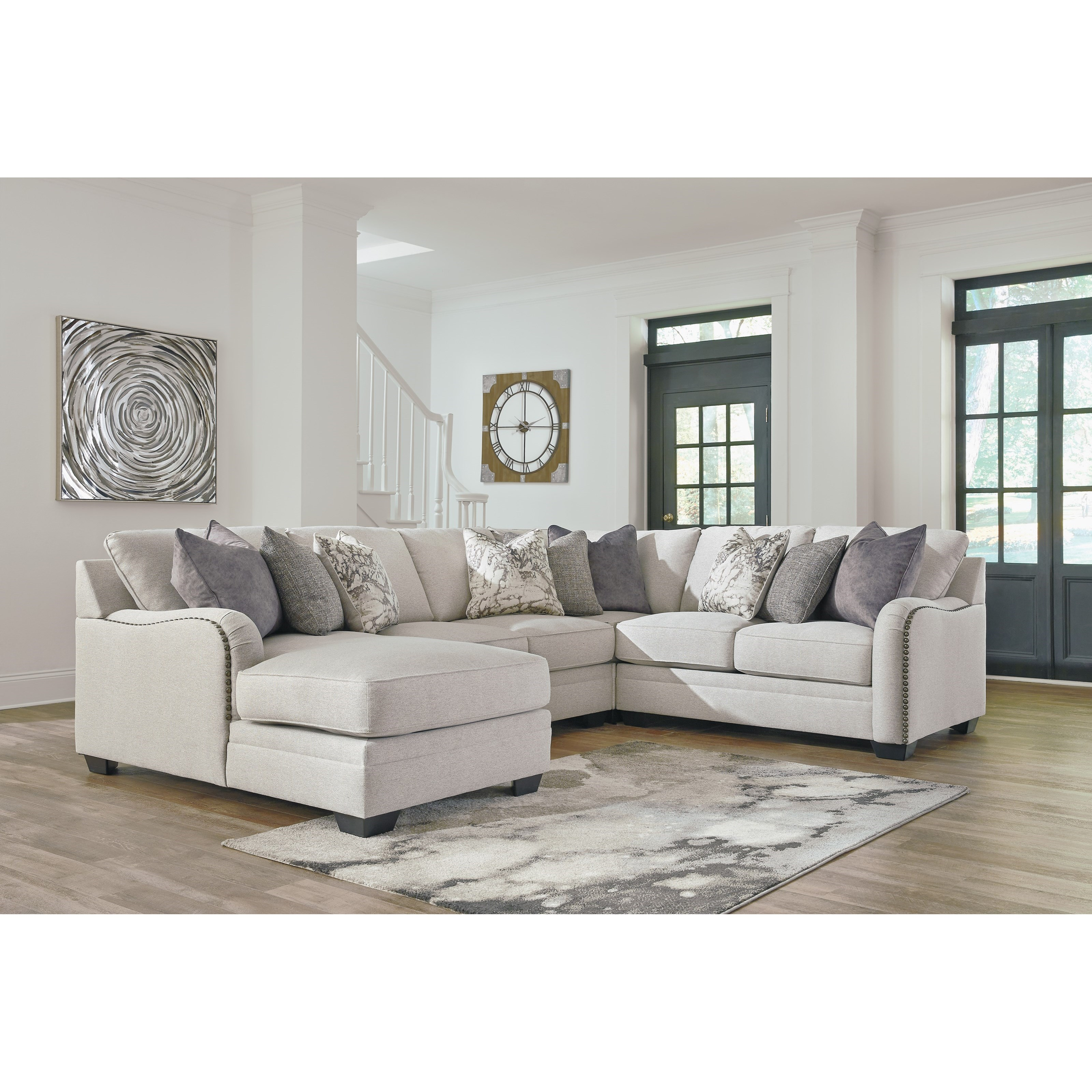 Casual 4-Piece Sectional with Left Chaise