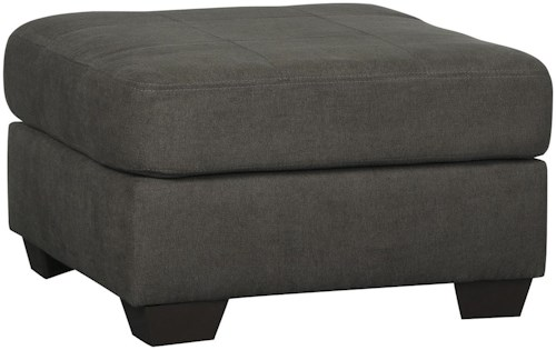Benchcraft Delta City - Steel Contemporary Oversized Accent Ottoman