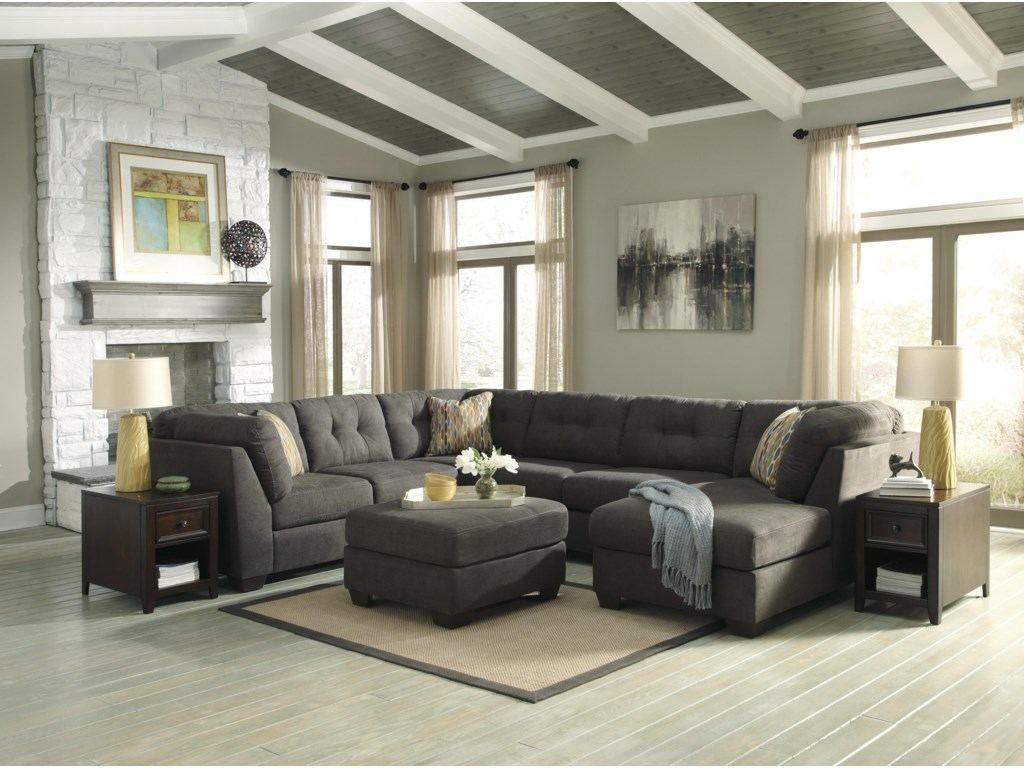Benchcraft Delta City - Steel3-Piece Modular Sectional with Right Chaise