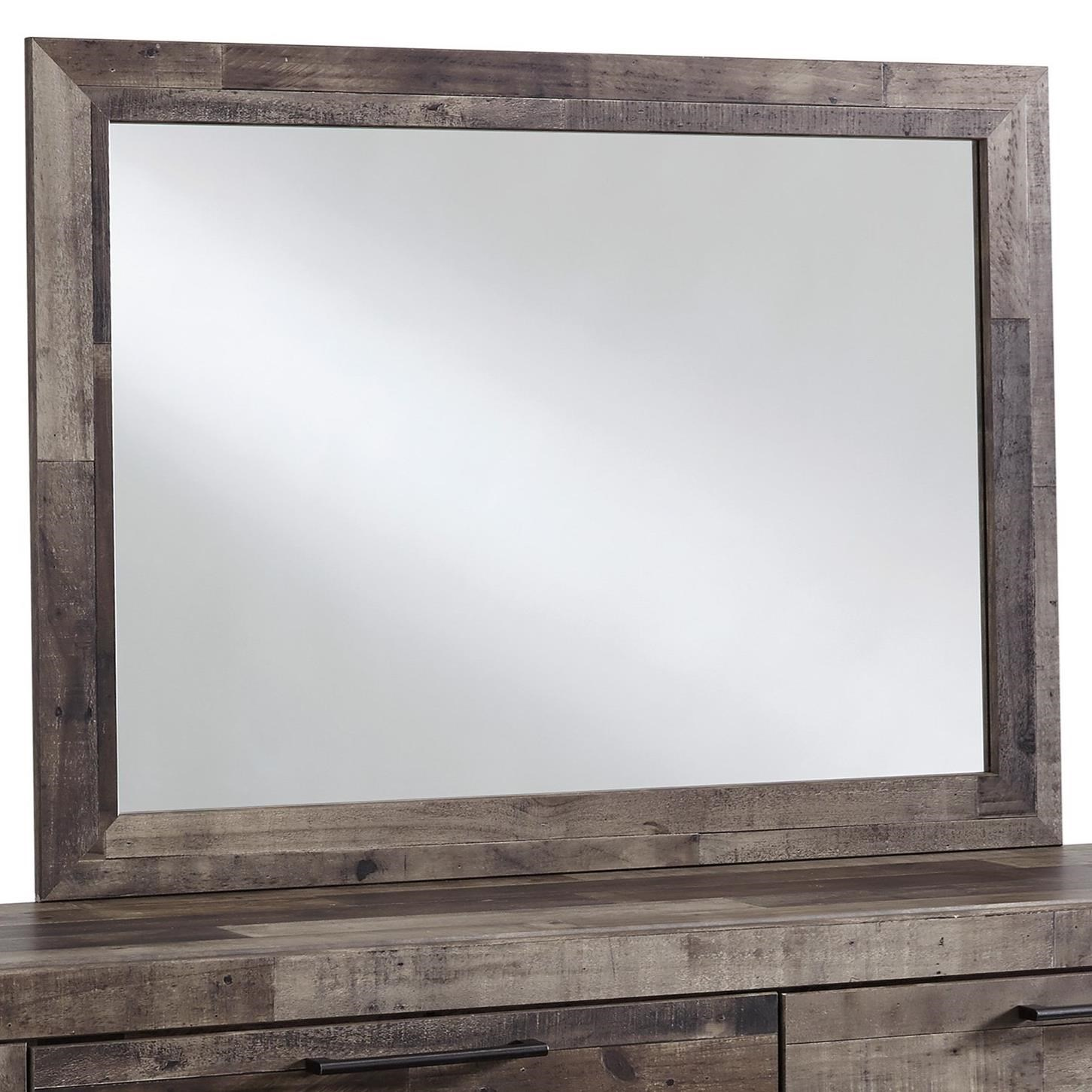 Benchcraft By Ashley Derekson Rustic Modern Bedroom Mirror Royal Furniture Dresser Mirrors