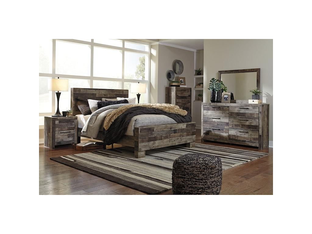 Benchcraft DereksonQueen Panel Bed
