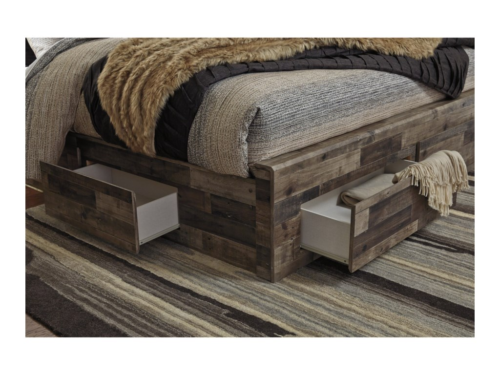 Benchcraft DereksonQueen Storage Bed with 6 Drawers