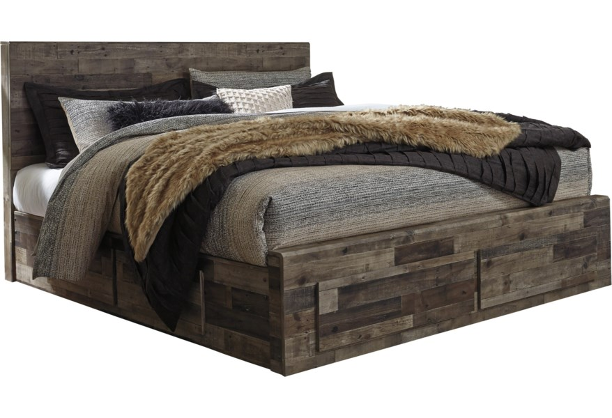 Trendz Downwater Rustic Modern King Storage Bed With 6 Drawers Ruby Gordon Home Platform Beds Low Profile Beds