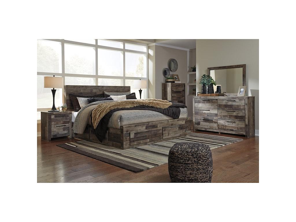 Benchcraft DereksonKing Storage Bed with 6 Drawers