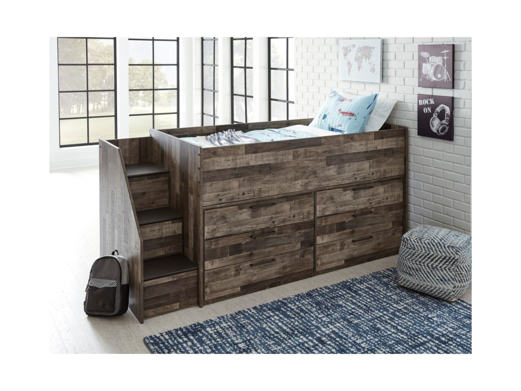 Benchcraft DereksonLow Loft Bed with Drawer Storage