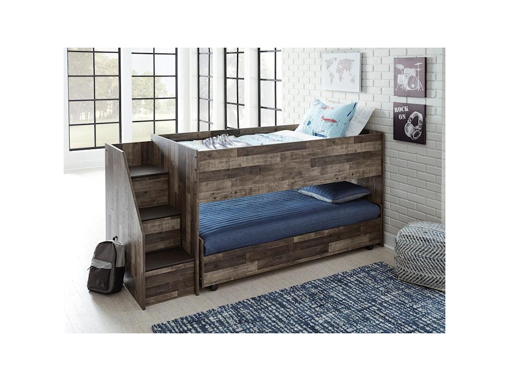 Benchcraft DereksonLow Loft Bed with Caster Bed